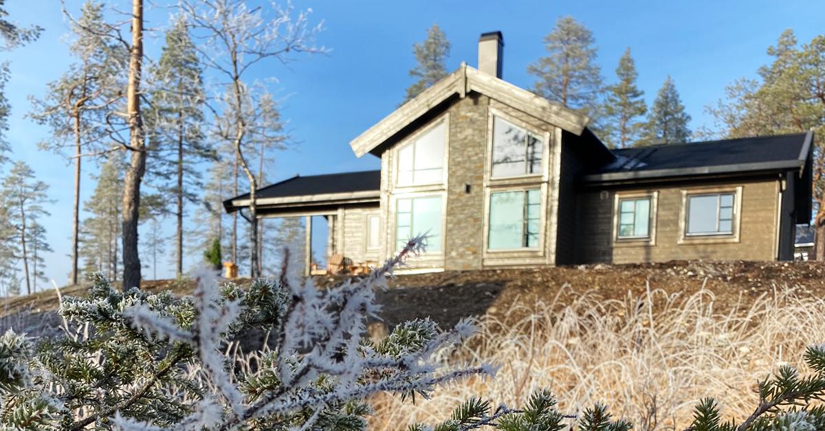 Her er Farmen-hytta som ligger på Turufjell i Flå, Hallingdal.